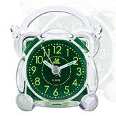 《PEARL》PEARL 綠精靈-迷你夜光超靜音掃描貪睡鬧鐘-雙耳造型BD-103
