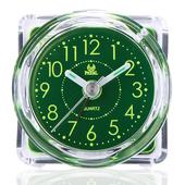 《PEARL》PEARL 綠精靈-迷你夜光超靜音掃描貪睡鬧鐘-圓方形BA-102