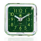 《PEARL》PEARL 綠精靈-迷你夜光超靜音掃描貪睡鬧鐘-方形RC-101