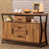 《Homelike》利克工業風4尺餐櫃