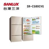 《SANLUX台灣三洋》580公升變頻電冰箱SR-C580CVG(原廠公司貨)(SR-C580CVG)