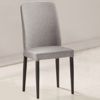 《Homelike》邱比時尚餐椅(二色)(時尚灰)