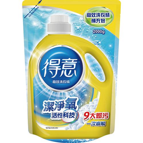 《得意》高效洗衣精補充包(2000g)