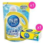《得意買就送》高效洗衣精補充包 2000g(送衛生紙100抽/包)