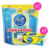 《得意買就送》高效洗碗精補充包 800g(送衛生紙100抽/包)