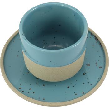 《SCENEAST》墨點描邊系列-5.7吋淺盤(青)(直徑14.5x高2cm)