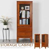 《Homelike》克林實木高置物櫃(柚木色)