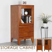 《Homelike》克林實木置物櫃(柚木色)