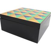 《Novella Amante》輕奢華工藝收納盒-三角幾何(20x20x9cm)