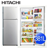 《中部限定加碼送★HITACHI 日立》381L變頻雙門電冰箱RV399-SLS典雅銀(含拆箱定位)