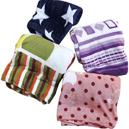 《Indian》法蘭絨時尚休閒毯-混款顏色隨機出貨(130*200CM)
