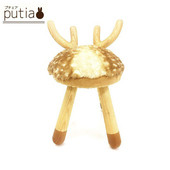 《Putia》日本兒童動物造型木製椅-麋鹿(麋鹿)