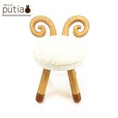 《Putia》日本兒童動物造型木製椅-綿羊(綿羊)