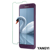 《YANGYI揚邑》Samsung Galaxy J4 5.5 吋 鋼化玻璃膜9H防爆抗刮防眩保護貼(Samsung Galaxy J4 非滿版鋼化膜)
