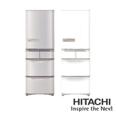 《HITACHI 日立》407公升變頻左開五門電冰箱-RS42HJL(RS42HJL-SN)