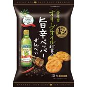 《即期2019.07.26 金吾堂》香辣黑胡椒味鹽仙貝15枚(90g/包)