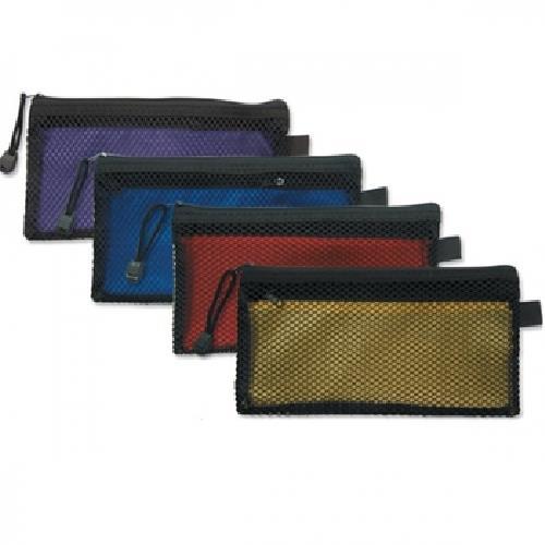 《珠友》40K雙層網狀拉鏈袋(顏色隨機)