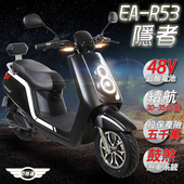 《e路通》(客約)EA-R53 隱者 48V鉛酸 500W LED大燈 液晶儀表 電動車 (電動自行車)(黑體白紋)