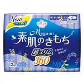 《日本大王》elis 愛麗思清爽零感衛生棉 夜用超薄(36cm*12片)