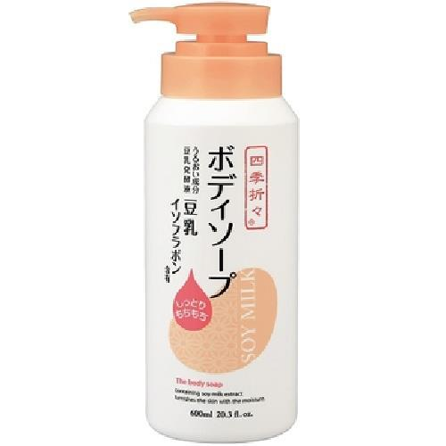 《熊野》豆乳精華保濕沐浴乳(600ml/瓶)