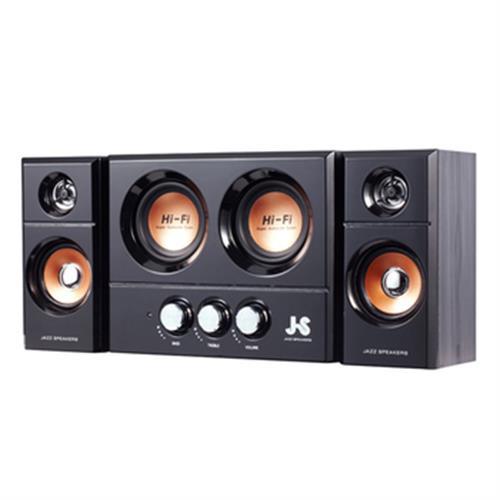 《JS》雙重低音全木質多媒體喇叭 JY3250