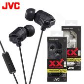 《JVC》XX系列重低音耳機麥克風 HA-FX103M(黑色)