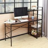 《BuyJM》BuyJM維德雙向層架工作桌/電腦桌/寬120公分(胡桃色)