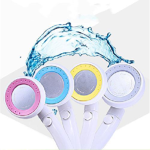 加壓省水360度可旋轉蓮蓬頭16CM(黃)