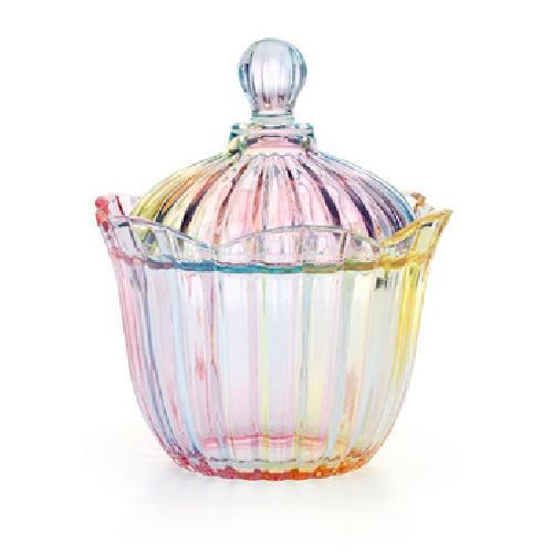 花朵水晶玻璃罐(8.5X18.5cm)