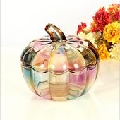 南瓜水晶玻璃罐-17.5X16.5cm(七彩)