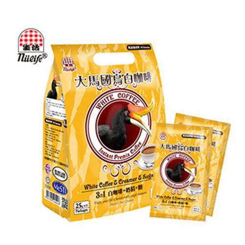 《即期2019.02.20 生活》大馬國鳥白咖啡-25gX15包/袋(3合1)