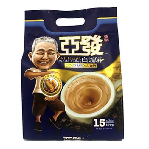 《Ah Huat》白咖啡金牌三合一條裝咖啡(570g)