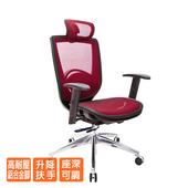 《GXG》高背全網 電腦椅 (鋁腳/升降扶手) TW-81Z6LUA5(請備註顏色)