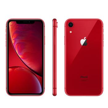 《Apple》iPhone XR 128GB 6.1吋 智慧型手機【送滿版玻璃貼+軍功殼】(紅色)