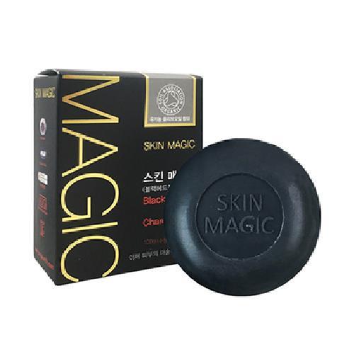 《Skin-Magic》奇蹟黑頭粉刺滅除皂100g/顆(紅蔘竹炭)