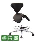 《GXG》醫療級 大馬鞍加椅背 工作椅 (寬鋁腳+踏圈+防刮輪) TW-81T6LU1XK(請備註顏色)