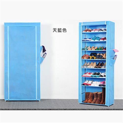 《免運》九層簡易加高防塵鞋櫃60X30X160cm±2cm(天藍)