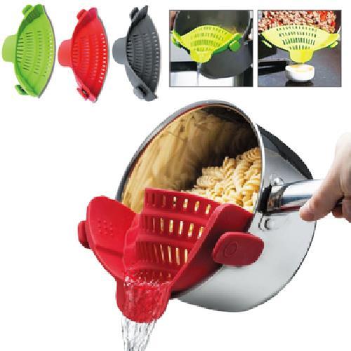 鍋邊倒菜瀝水器-顏色隨機出貨(H1709009)