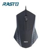 《RASTO》RM2 翼。有線光學滑鼠(黑)