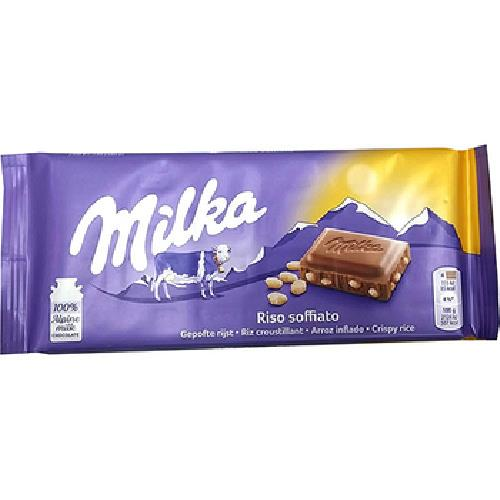 《Milka》巧克力 100g(脆米牛奶)
