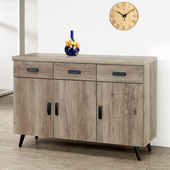 《Homelike》布里安4尺餐櫃(古橡木)