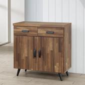 《Homelike》布里安2.7尺碗盤收納櫃(積層木)