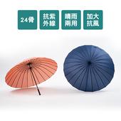 《免運》24骨56吋超大雨傘(粉)