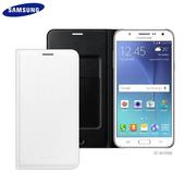 《Samsung》Galaxy J7 (J700) 原廠皮革插卡套(白)