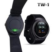 《u-ta》升級款圓款觸控智慧心律手錶TW1(心律版)(黑色)