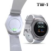 《u-ta》升級款圓款觸控智慧心律手錶TW1(心律版)(白色)