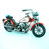 《Jayland》紅哈雷摩托車1:8 規格(33.5(L))