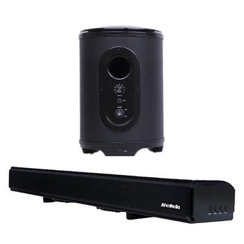 圓剛 GS333+GS335 戰神巴雷特 藍芽電競重低音喇叭組(GS333黑色+GS335黑色)