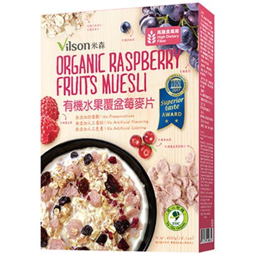 《米森》有機水果覆盆莓麥片(400g)