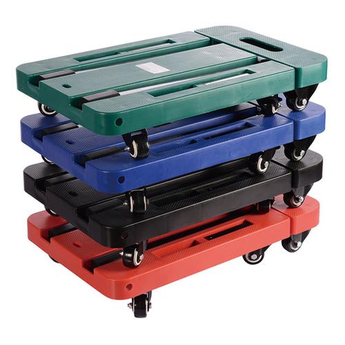 多功能摺疊六輪手推車-顏色隨機(47x30x9cm)